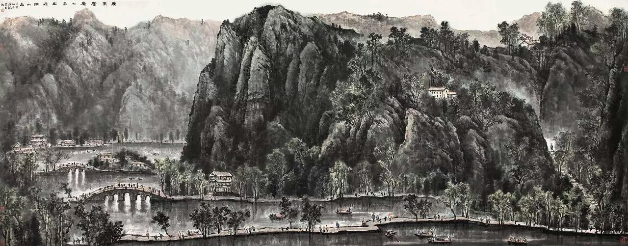 """山水是一个大文化,也是全世界可以共享的文明成果。山水是中国人长久以来建立起来的对世界的一整套认知和观念,山水画正也承载着这些文明的厚重,这些都将在人类社会的不断发展和反思中产生裨益。 李可染画院在众多的画院中是非常年轻的,但基于李可染先生的艺术精神所建立的李可染画院不乏时代的厚重。李可染先生是近代山水画的大师,他开创的""""李家山水""""对新中国的山水画创作产生了至为深远的影响,与此同时,李可染先生践行的""""苦学派""""精神对于今天的中国艺术创作而言依然有着重要时代意义,"""